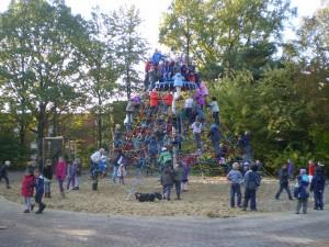 Kletterspinne mit KindernOkt.2010